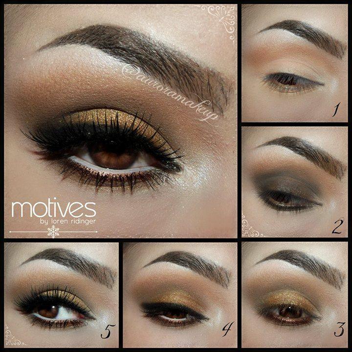 Brąz i złoto – idealny makijaż dla brązowych oczu