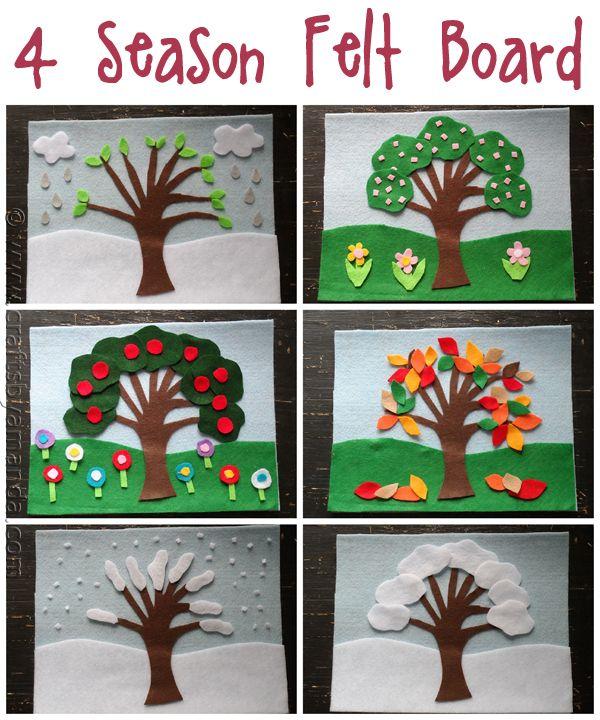 4 Seasons Felt Board.. love this idea for exploring the seasons!