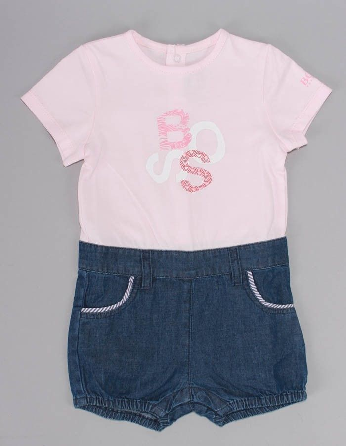Boss Tee and Shorts Pink | Accent Clothing