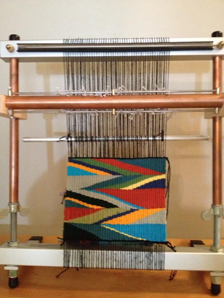 Wedge weave tapestry currently on my mirrix loom. http://memphisweaver.com