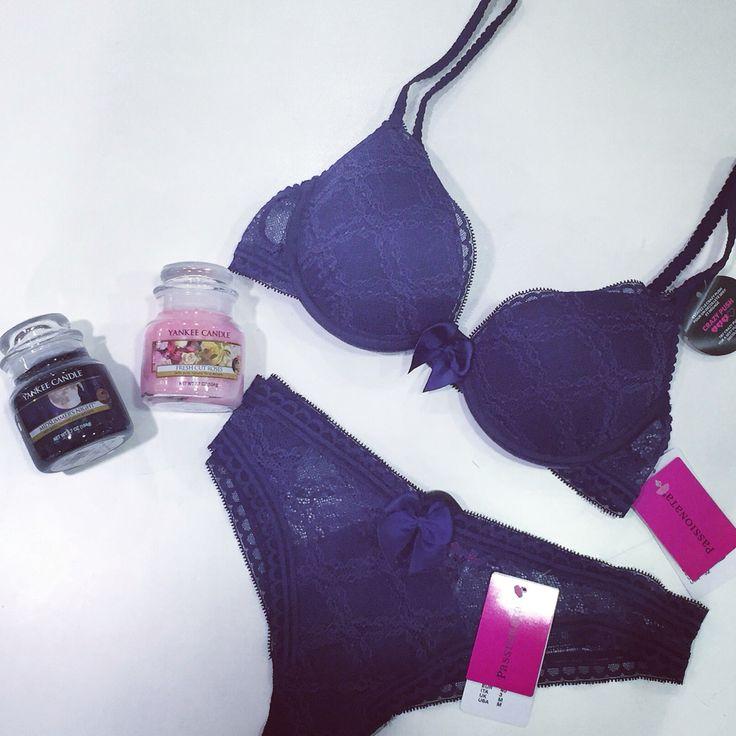 Passionate purple lace underwear