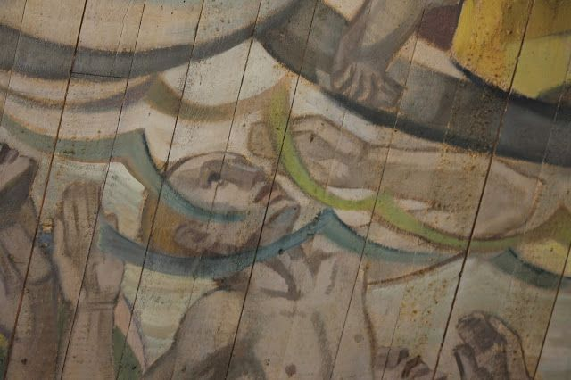 Lennart Segerstråle (1928). A detail of the ceiling painting at the Reposaari church in Pori.