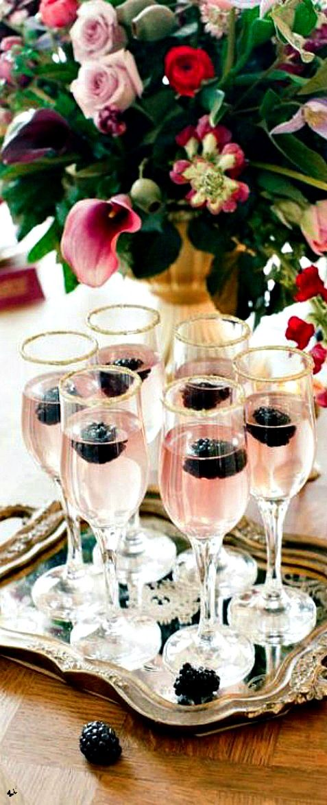 Blackberries and Pink Champagne