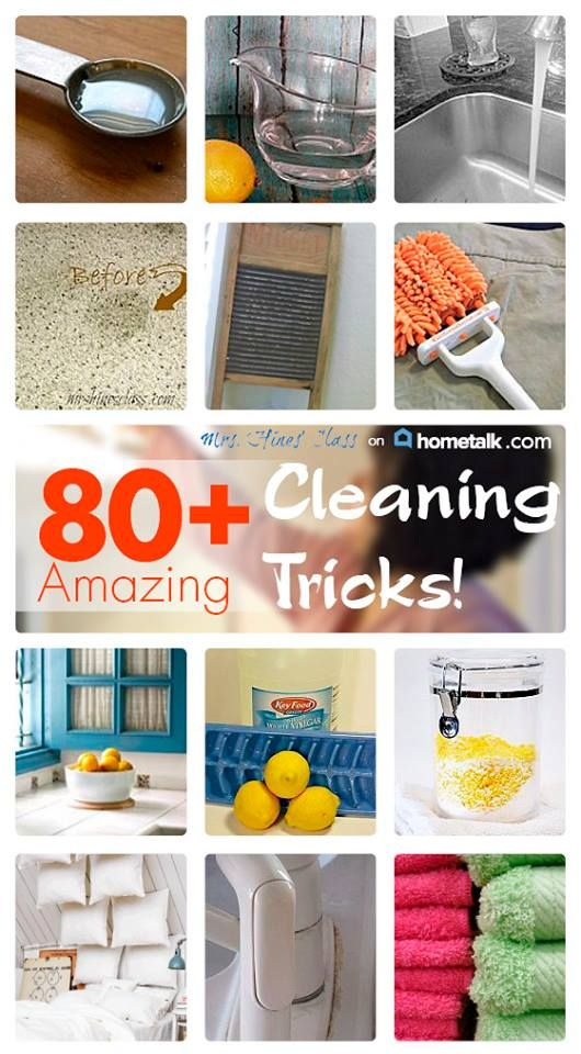 80  Amazing Cleaning Tips! Mrs. Hines Class http://www.mrshinesclass.com/2013/10/13/amazing-cleaning-tricks/  #clean #recipe #healthy #recipes #eatclean