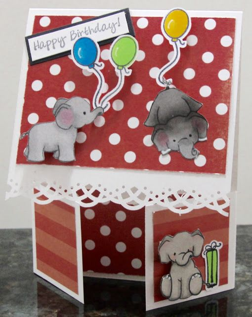 Angelic Impressions: Cute Elephant Double Dutch card
