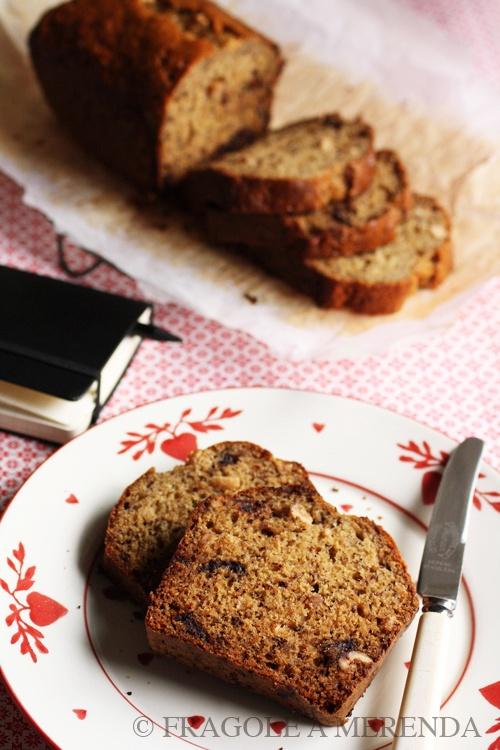 Chocolate-banana bread: pane alle banane con nocciole e cioccolato (una ricetta da FRAGOLE A MERENDA)