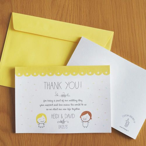 Thank you cards for Heidi & David