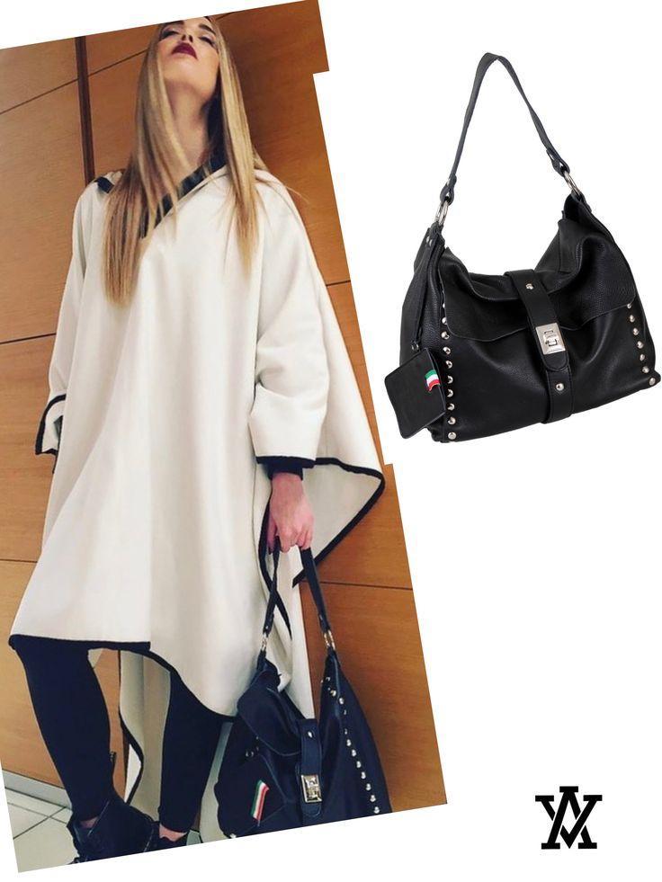 Italian leather bags code: AMALFI black shoponline: www.adelevivian.com