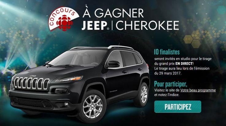 Concours : Un superbe Jeep Cherokee 2017 4X4 à gagner!
