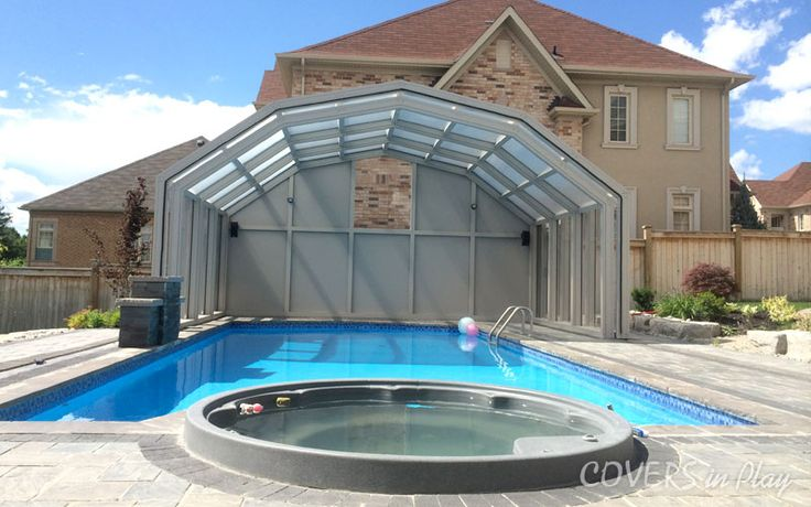In the summer months, Pool Enclosures shield you from the direct heat of the sun. Try our pool enclosures today. Visit us at http://www.coversinplay.com/blog/#PoolCover #PoolDesigns #GroundPool #PoolBlanket #PoolEnclosures