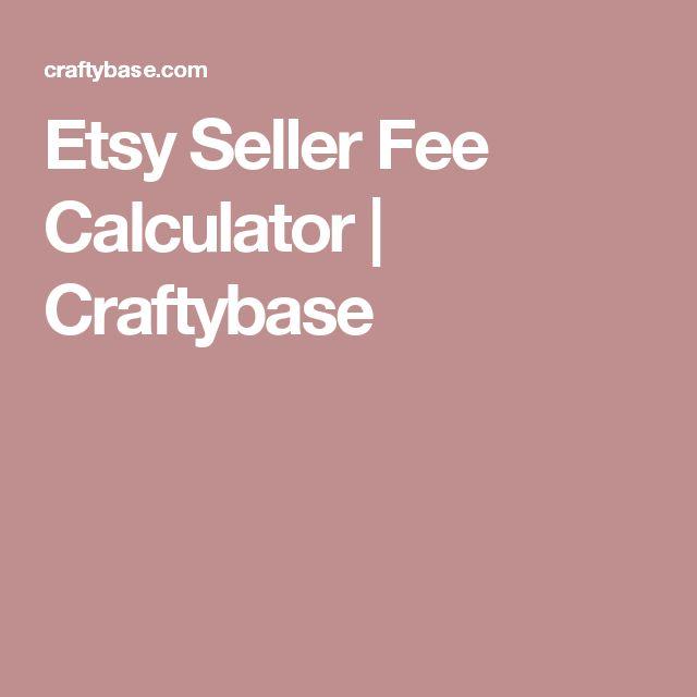 Etsy Seller Fee Calculator    Craftybase
