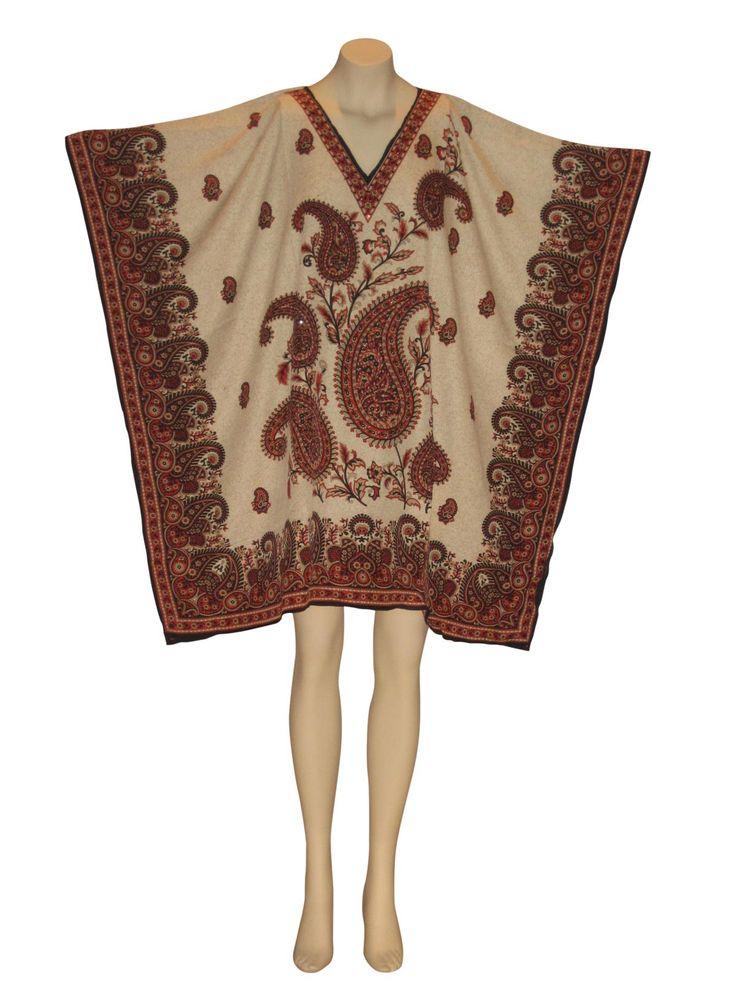 Red Persian Sequined Tunic Kaftan Caftan Dashiki Top from Kaftan Connection