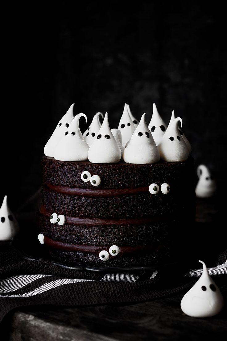 "Kanela y Limón: Tarta ""fantasma"" de chocolate. Halloween"