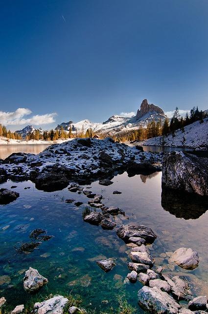 Lake Federa - Dolomites, province of Belluno, Veneto, Northern Italy