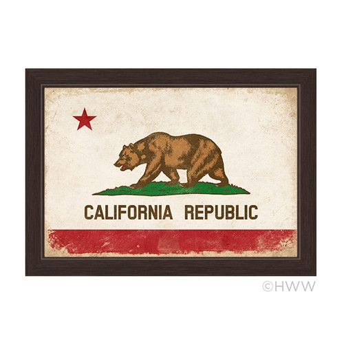 Found it at Wayfair - California Republic Flag Framed Graphic Art