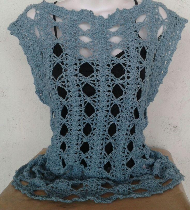 """Blusa a crochet """"Diseños Rocío"""" 0424 2123796"""