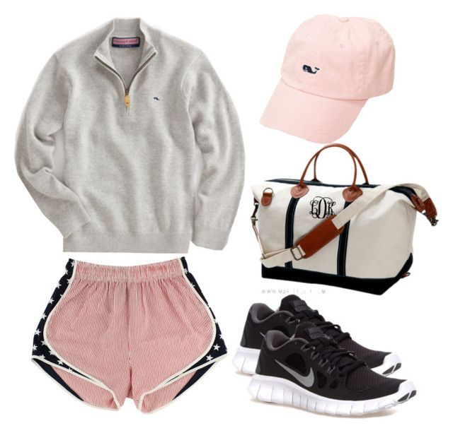 """It's a long drive to Vineyard Vines"" by thepreppyblonde ❤ liked on Polyvore featuring Vineyard Vines, NIKE and country"