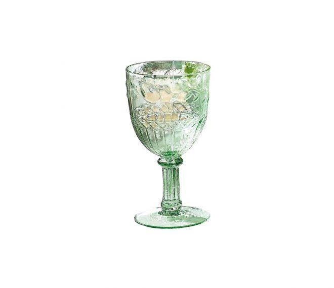 Weißweinglas-Set, 6-tlg Blätterrankenverzierung | sei so lieb