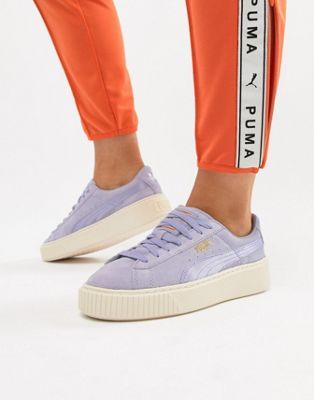 47970d332446e Puma Suede Platform Satin Sneaker in lavender in 2018   everything ...