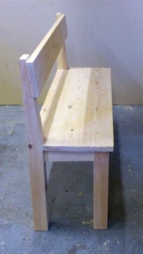 Rustic, 6ft Farmhouse bench with back support, kitchen/dining room furniture #4