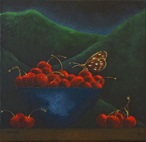 The dream of a butterfly, acrylic on canvas 2008, Angela Kuckartz