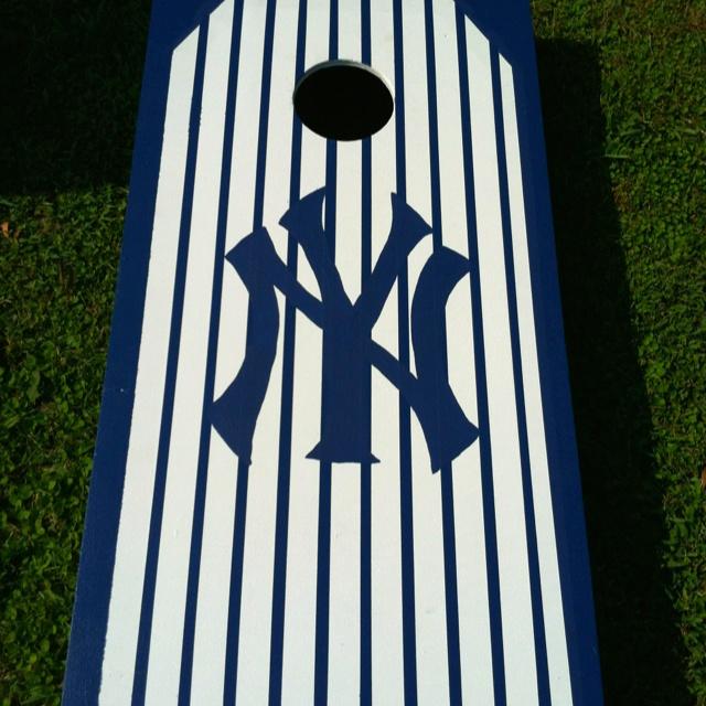 Ny Yankees Cornhole Board 1 2 Quot Pinstripe My Husband