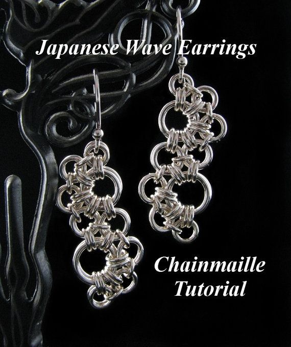Basket Weave Chainmaille Tutorial : Best images about chain mail earrings on