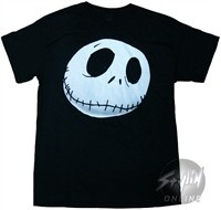 Nightmare Before Christmas Jack Face T-Shirt. Nightmare Before Christmas Jack Face T-Shirt This is an officially licensed Nightmare Before Christmas t-shirt in which these Nightmare Before Christmas shirts have been screen printed with the Nightmare Before Christmas image on front. These Nightmare Before Christmas tshirts are usually made from heavyweight preshrunk 6oz. cotton tee shirt blanks. Check back often for some of our new Nightmare Before Christmas clothing and other Nightmare…