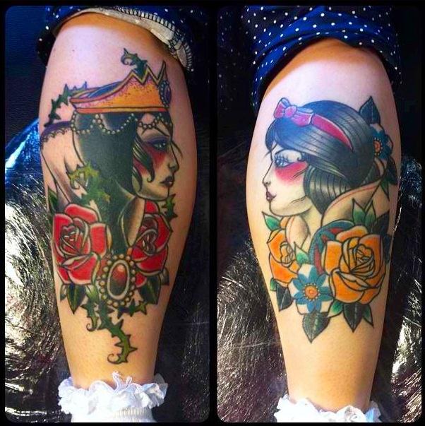 Snow White Disney Tattoo By Vicky Morgan