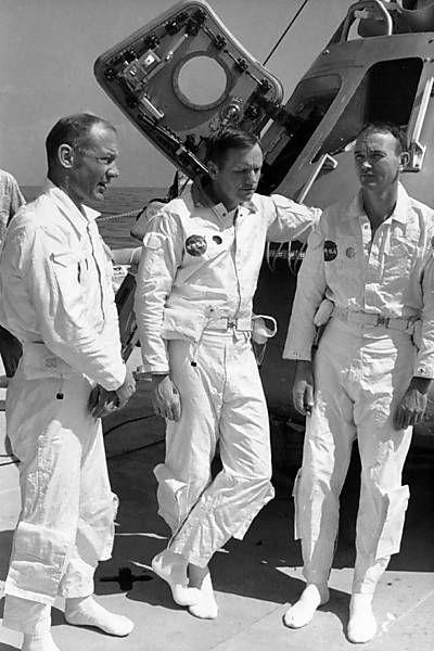 Tripulação da Apollo 11 foi formada por Neil Armstrong, Edwin 'Buzz' Aldrin e Michael Collins.