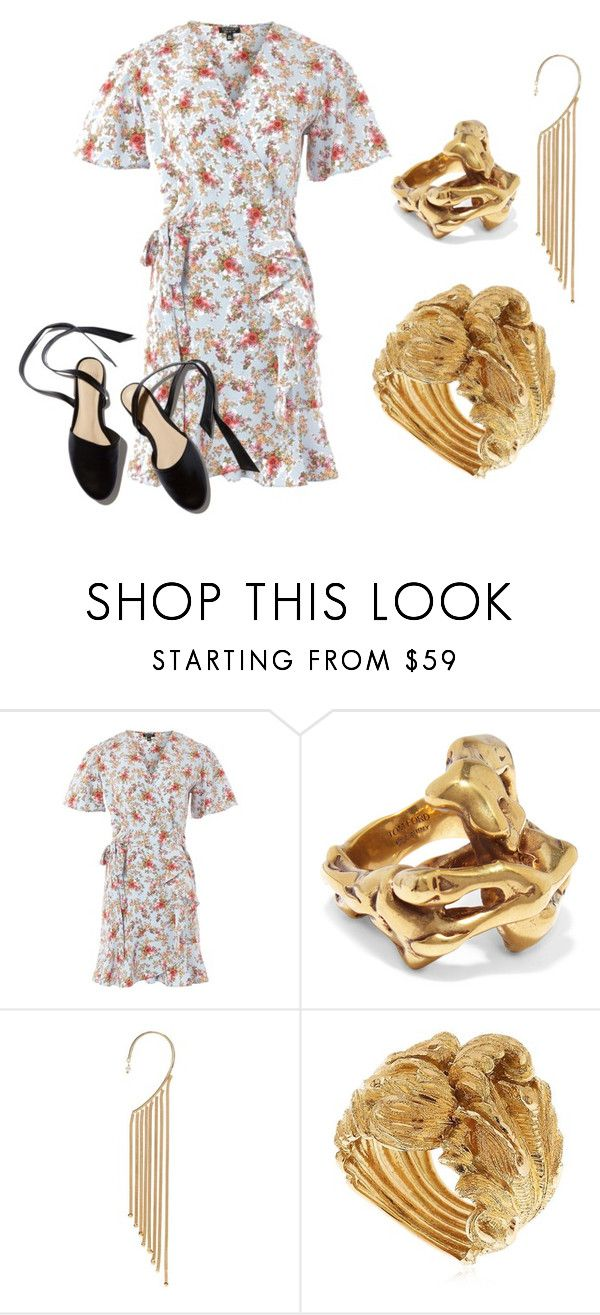 """""""Summer dress 2"""" by catherinemairi on Polyvore featuring Topshop, Tom Ford, Rosantica and Vanzi"""