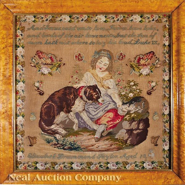 A Beautiful 19th Century SCOTTISH Sampler Stitched By Elizabeth Drummond Taylor Aged 13