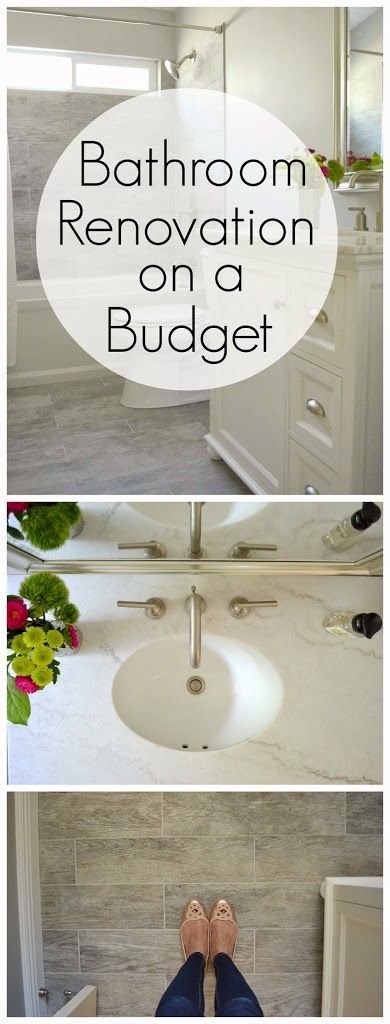 Want to know how to renovate a small bathroom on a budget? I got a clean designer look for less in my bathroom remodel on a budget. See how I did it!