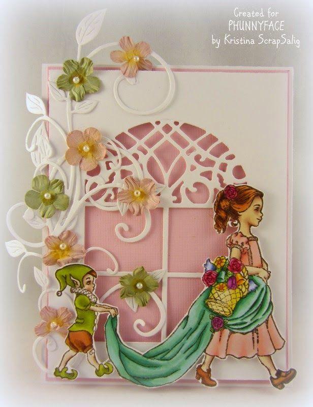 My PhunnyFace stamp Blog: Flower girl card by Kristina