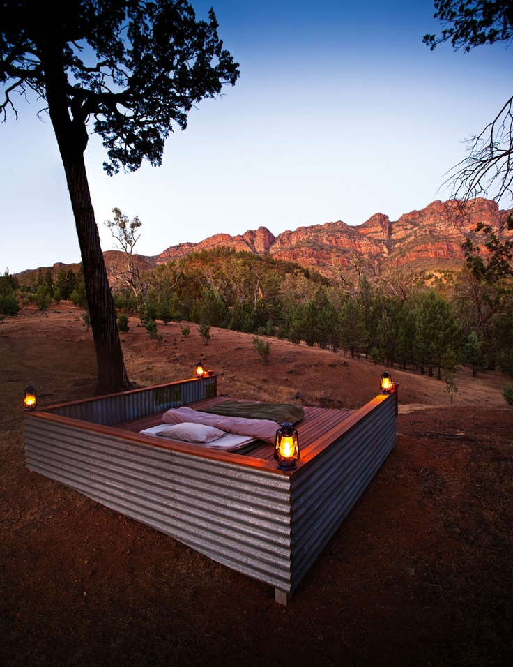Does the idea of roughing it turn you off camping? Maybe glamping is more your style! Full story here: http://www.australiantraveller.com/flinders-ranges/luxury-walk-through-arkaba/ #glamping #outback #luxury #view #walk #flindersranges #australia