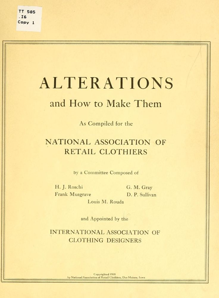 Alterations and how to make them