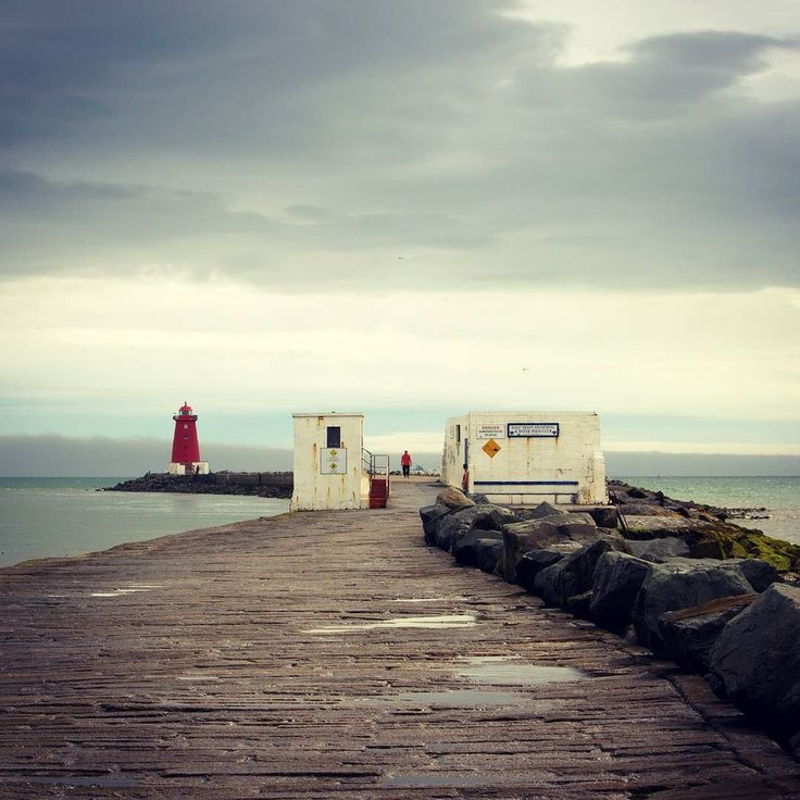 Poolbeg Lighthouse at the end of the Great South Wall #lighthouse #lovedublin