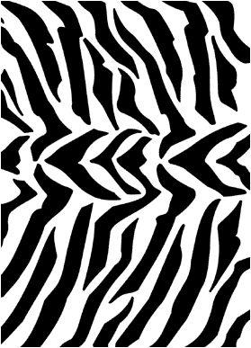 Зебра трафареты stensils и stencles