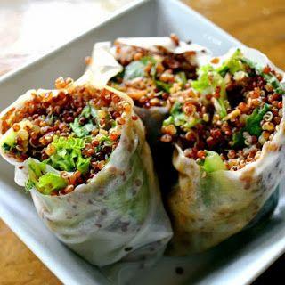 Sesame Quinoa Spring Rolls Recipe