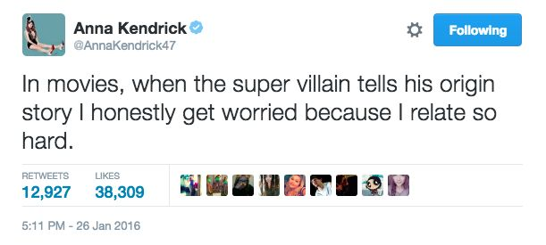 And when she expressed your same very real fears.   19 Life-Changing Things Anna Kendrick Tweeted In 2016