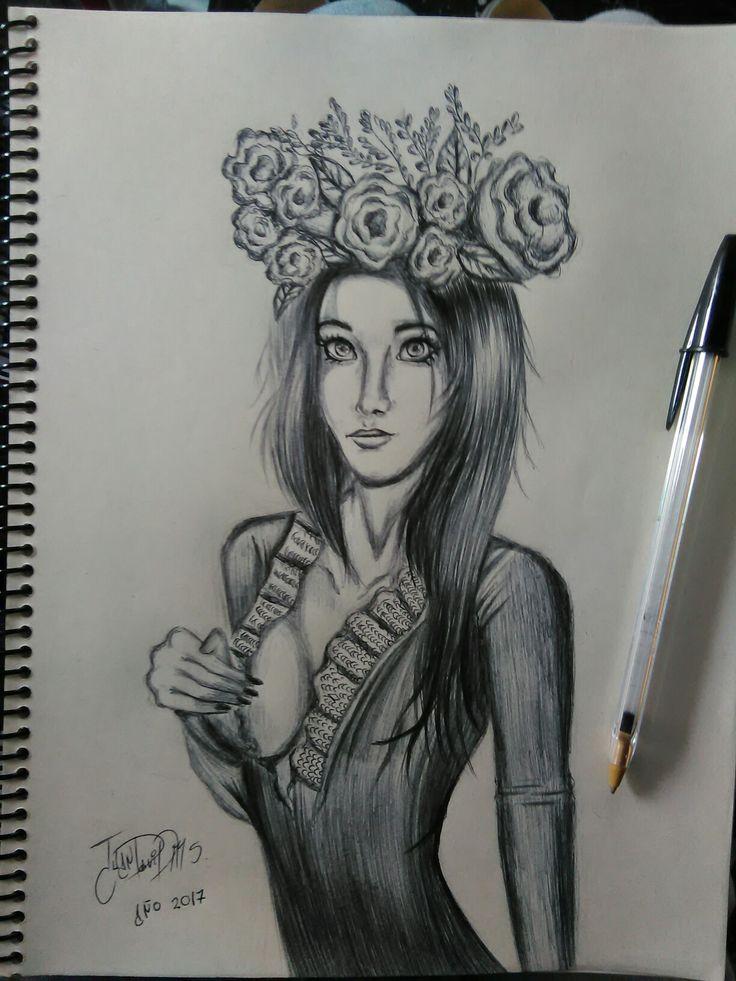 Dibujo con boligrafo.