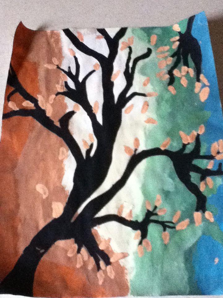 Tree painting by ser 꽃그림