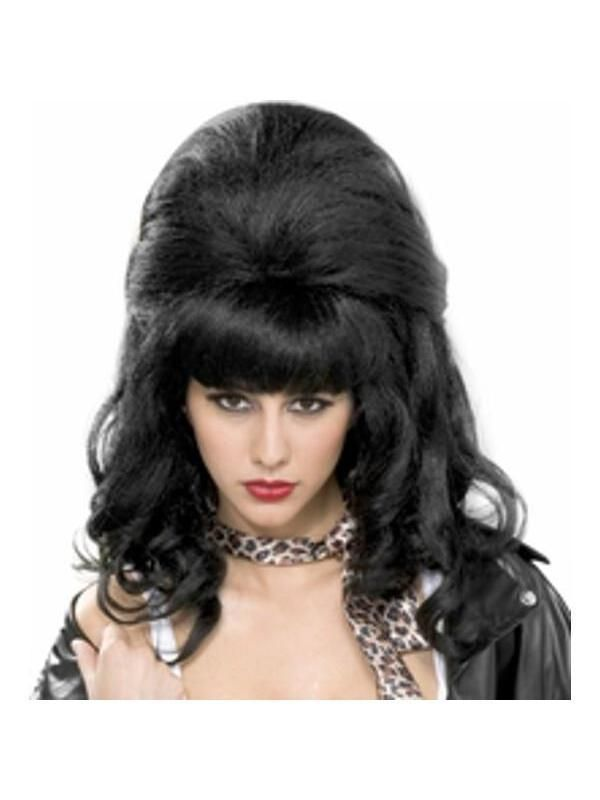 Amy Winehouse Wig Ladies Fancy Dress Pop Celebrity Beehive Costume Accessory New