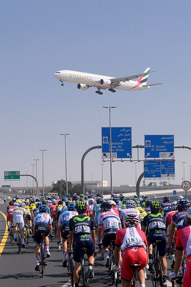 Gallery: 2014 Dubai Tour, stage 3 - VeloNews.com - The Emirates airline is a backer of the Dubai Tour and has been linked to the new cycling project headed by Formula One driver Fernando Alonso. Photo: Tim De Waele | TDWsport.com