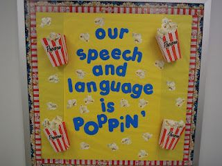 Bulletin board/door....our speech and language is poppin! blog: Talk It Up