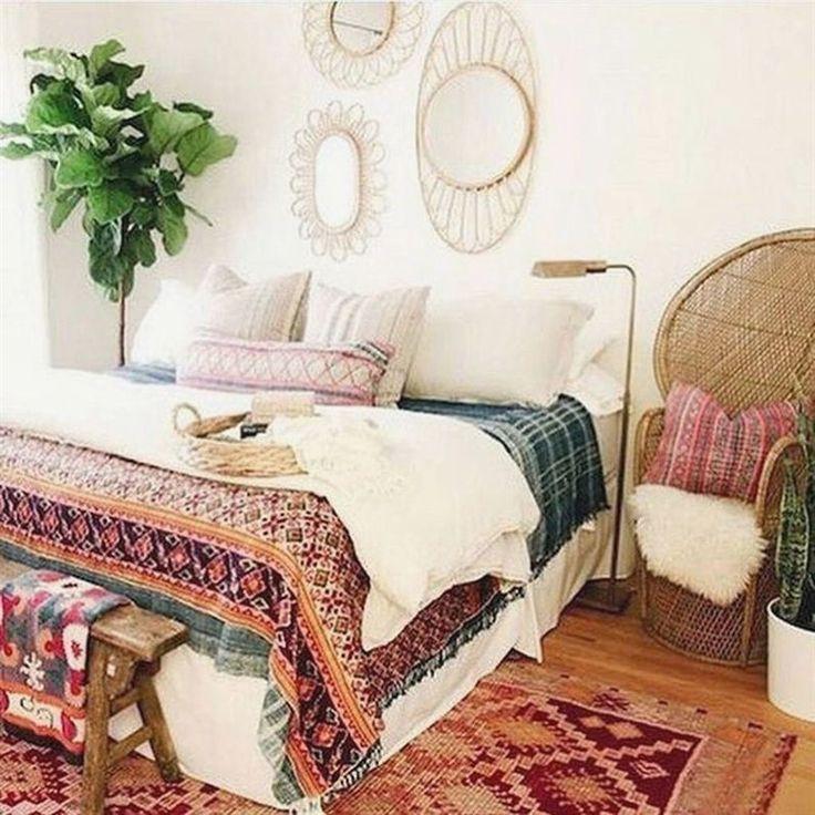 33+ beautiful bohemian bedroom decor to inspire you – #bohemian # Bohemian #Decor #inspire #bedroom