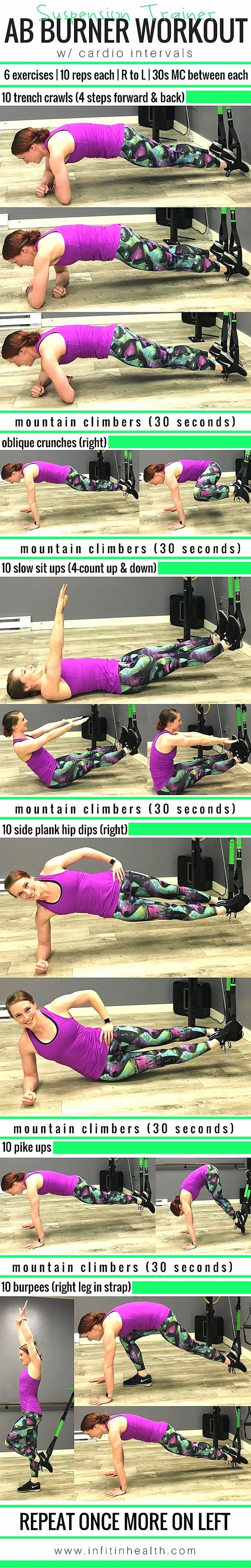 Suspension Trainer Ab Burner Workout w/ Cardio Intervals