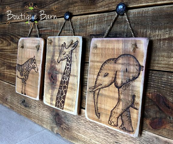 Safari Room Decor/Safari Home Decor/Safari Nursery Decor/Giraffe Nursery/Elephant Nursery/Zebra Nursery/Zebra Wall Decor/Rustic Wooden Sign