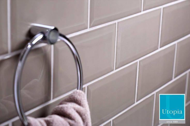 Brick bathroom wall tiles from Utopia Bathrooms.