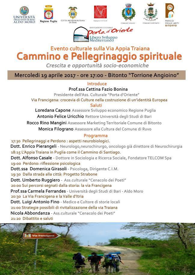 """""""Cammino e Pellegrinaggio spirituale"""" Crescita e opportunità socio-economiche"""